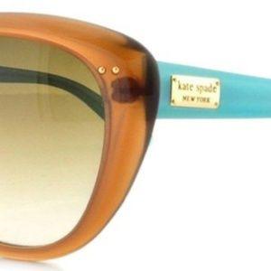 Kate Spade Brown/Aqua Cat Eye Sunglasses